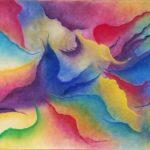 Pastellkreide, moderne Kunst, abstrakt,