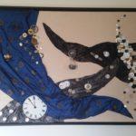 Collage, sonstiges, verschiedene Materialien, Collage, Kunst