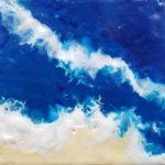 Sandcollage, Art, Kyri-Art, Kyri Schrader, Enkaustik, Encaustic, Wachs, Kunst mit Bienenwachs, Wachskunst